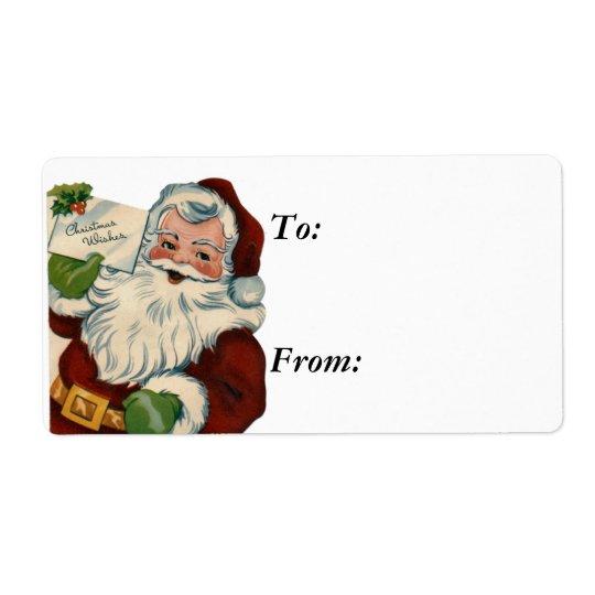Vintage Santa Claus Labels