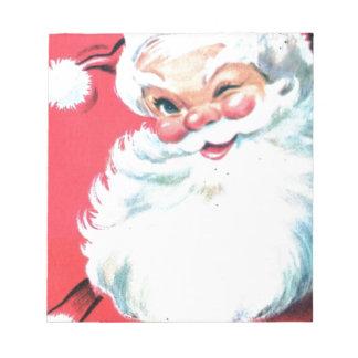 Vintage Santa Claus Notepad