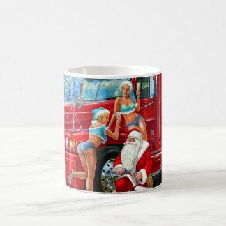 Vintage Santa Claus & Pin-Ups Christmas Mug