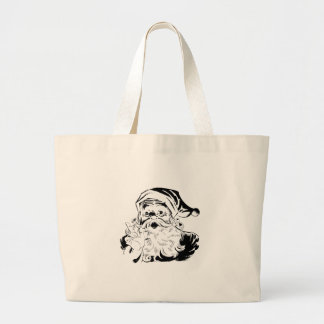 Vintage Santa Claus Portrait Shaking Finger Jumbo Tote Bag