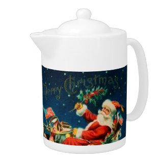 Vintage Santa Claus Sleigh Christmas Holiday