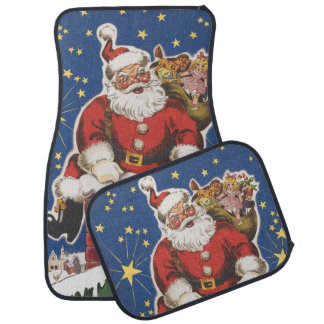 Vintage Santa Claus, Twas Night Before Christmas Floor Mat