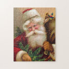 Vintage Santa Claus with Sack full of Toys Jigsaw Puzzle
