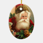 Vintage Santa Claus with Toys 2 Christmas Ornament