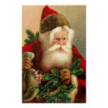 Vintage Santa Claus with Toys 2 Print