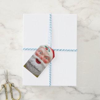 Vintage Santa Claus wreath Gift Tags