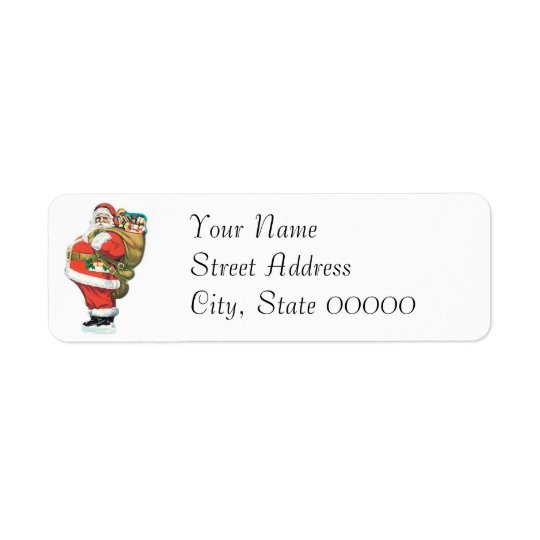 Vintage Santa Clause Return Address Label