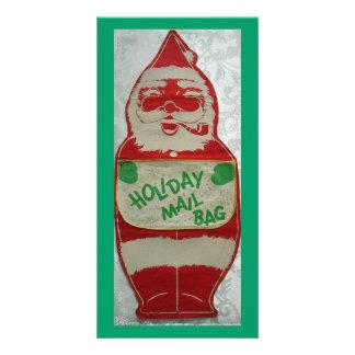 Vintage Santa Custom Photo Card