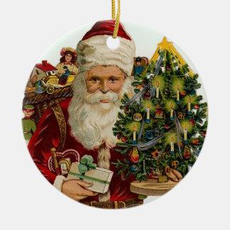 Vintage Santa Christmas Tree Ornaments
