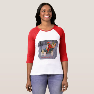 Vintage Santa Driving in a Modern Snow Scene Shirt