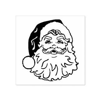 Vintage Santa Face Rubber Stamp