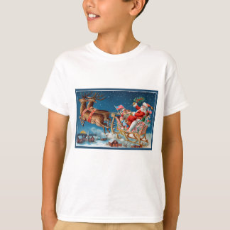 vintage santa flying sleigh T-Shirt
