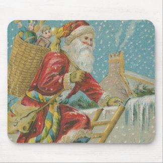Vintage Santa Going up a Ladder Mouse Pad