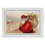 Vintage Santa Greeting Card