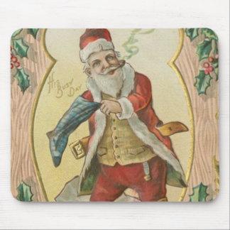 Vintage Santa Greetings Mouse Pad