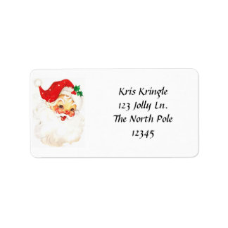 Vintage Santa Head Address Labels