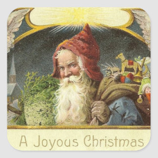 Vintage Santa Holiday Sticker