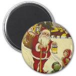 Vintage Santa II 6 Cm Round Magnet