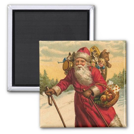 Vintage Santa Magnet for the Holidays