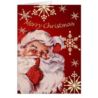 Vintage Santa Merry Christmas card