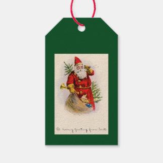 VINTAGE SANTA PAPER PRODUCTS GIFT TAGS