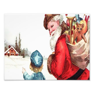 Vintage Santa Photo Print