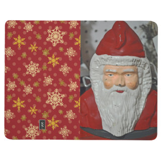 Vintage Santa Photo with decorative interior cover Journal