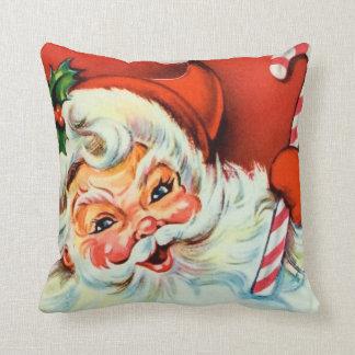 Vintage Santa retro home decor pillow