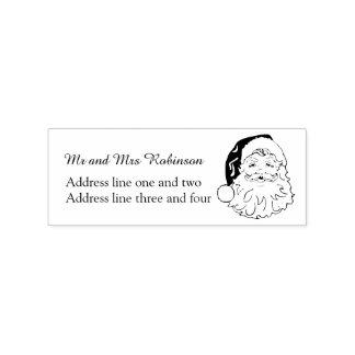 Vintage Santa Return Address Rubber Stamp
