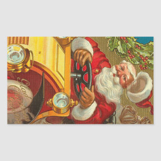 Vintage Santa Sheet of 4 Rectangle Matte Stickers