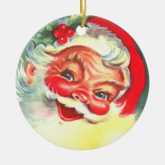 Vintage Santa Smiling Christmas Ornament