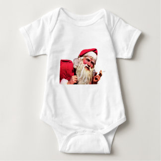 Vintage Santa Smoking Cigarette Baby Bodysuit