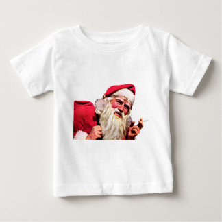 Vintage Santa Smoking Cigarette Baby T-Shirt
