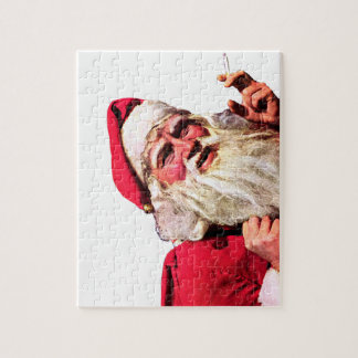 Vintage Santa Smoking Cigarette Jigsaw Puzzle