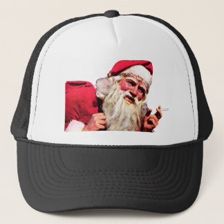 Vintage Santa Smoking Cigarette Trucker Hat