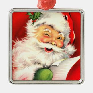 Vintage Santa Winking Christmas Ornament