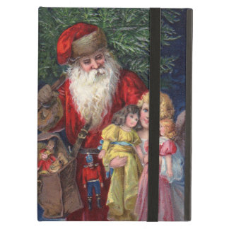 Vintage Santa with Angel and Toys iPad Air Covers