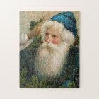 Vintage Santa with Blue Cap Jigsaw Puzzle
