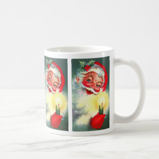 Vintage Santa with Candle Classic White Coffee Mug