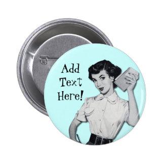 Vintage Sassy Secretary 6 Cm Round Badge