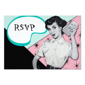 Vintage Sassy Secretary RSVP Card