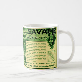 Vintage Savage Firearms Green Gun Ad Coffee Mug