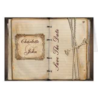 vintage save the date announcement greeting card