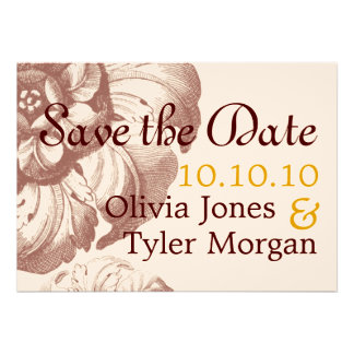 Vintage Save the Date Invitations