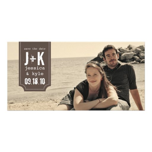 Vintage Save the Date Photo Card Template
