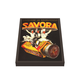 Vintage Savora Condiment Advertisment Gallery Wrapped Canvas
