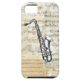 Vintage Saxophone Music iPhone Case