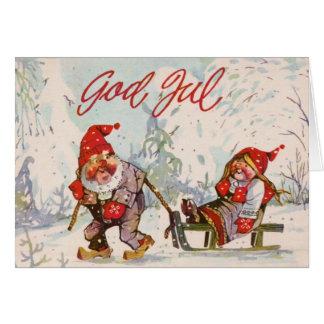 Vintage Scandinavian Christmas Card