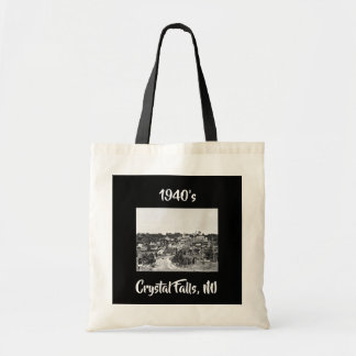 Vintage Scene 1940's Crystal Falls, MI Tote