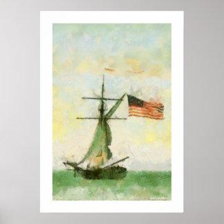 Vintage Schooner Artwork Print